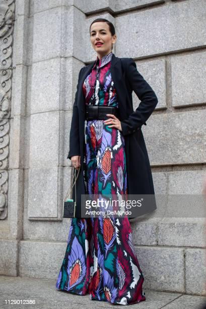 Actress Camilla Belle attends Carolina Herrera fall 2019 runway show during New York Fashion Week held at New York Historical Society 170 Central...