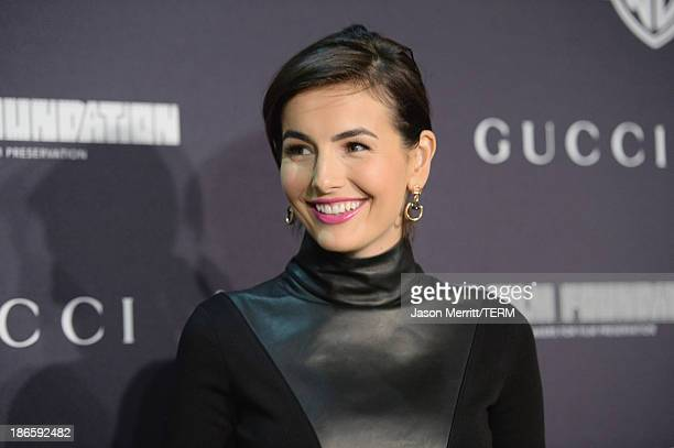 Actress Camilla Belle attends Gucci's presentation of The Restoration Premiere of 'Rebel Without A Cause' at LACMA on November 1 2013 in Los Angeles...
