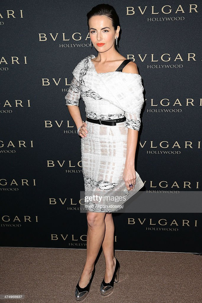Actress Camilla Belle attends the BVLGARI 'Decades of Glamour' Oscar Party at Soho House on February 25, 2014 in West Hollywood, California.
