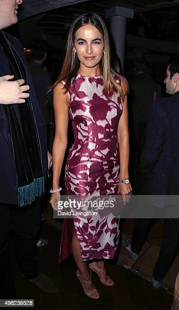 Actress Camilla Belle attends the premiere of Focus Features' 'The Danish Girl' after party at Skylight Gardens on November 21 2015 in Los Angeles...