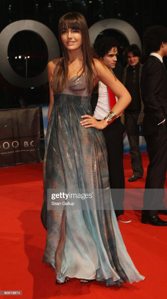 Actress Camilla Belle attends the world premiereof '10,000 B.C.' at the Sony Center CineStar on February 26, 2008 in Berlin, Germany.