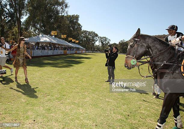Actress Camilla Belle attends Veuve Clicquot Polo Classic Los Angeles at Will Rogers State Historic Park on October 9, 2011 in Los Angeles,...