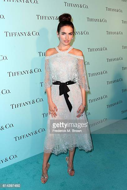 Actress Camilla Belle celebrates the unveiling of the renovated Tiffinay Co Beverly Hills store at Tiffany Co on October 13 2016 in Beverly Hills...