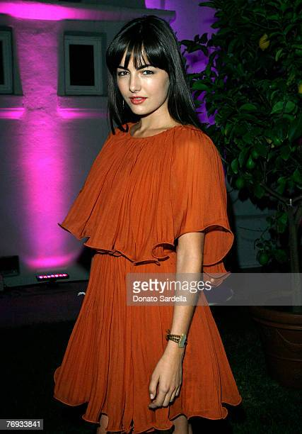 LOS ANGELES CA SEPTEMBER 20 Actress Camilla Belle inside the Teen Vogue Young Hollywood Party at Vibiana on September 20 2007 in Los Angeles...