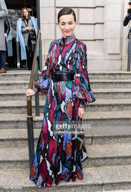 Actress Camilla Belle is seen arriving to Carolina Herrera Fall/Winter 2019 Fashion Show during New York Fashion Week at the New York Historical...