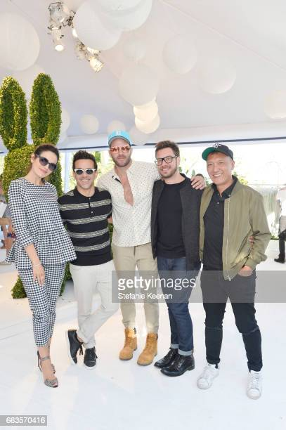 Actress Camilla Belle magazine editor George Kotsiopoulos stylist Johnny Wujek Rob Younkers and Joe Zee EditorinChief and Executive Creative Officer...