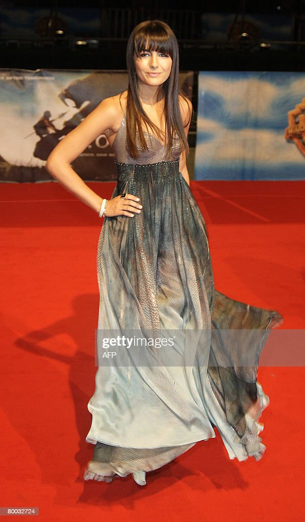 US actress Camilla Belle poses as she attends the world premiere of the movie '10,000 B.C.' by German director Roland Emmerich at the Sony Center on February 26, 2008 in Berlin, Germany.