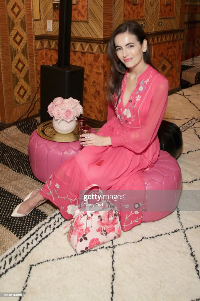Actress Camilla Belle poses at kate spade new york Spring 2017 Fashion Presentation at Russian Tea Room on February 10, 2017 in New York City.