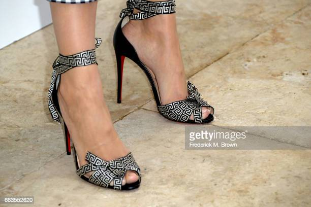 Actress Camilla Belle shoe detail attends Victoria Beckham for Target Launch Event on April 1 2017 in Los Angeles California
