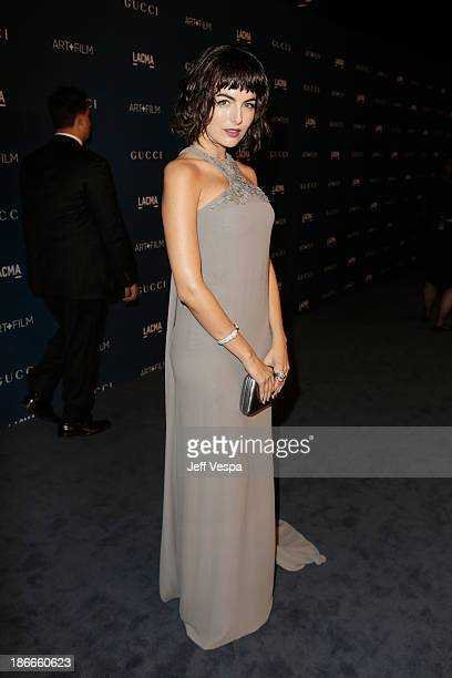 Actress Camilla Belle, wearing Gucci, attends the LACMA 2013 Art + Film Gala honoring Martin Scorsese and David Hockney presented by Gucci at LACMA...