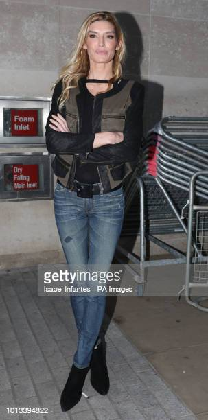 Actress Camilla Cleese leaving BBC Broadcasting House in London after appearing on The One Show with her father John Cleese