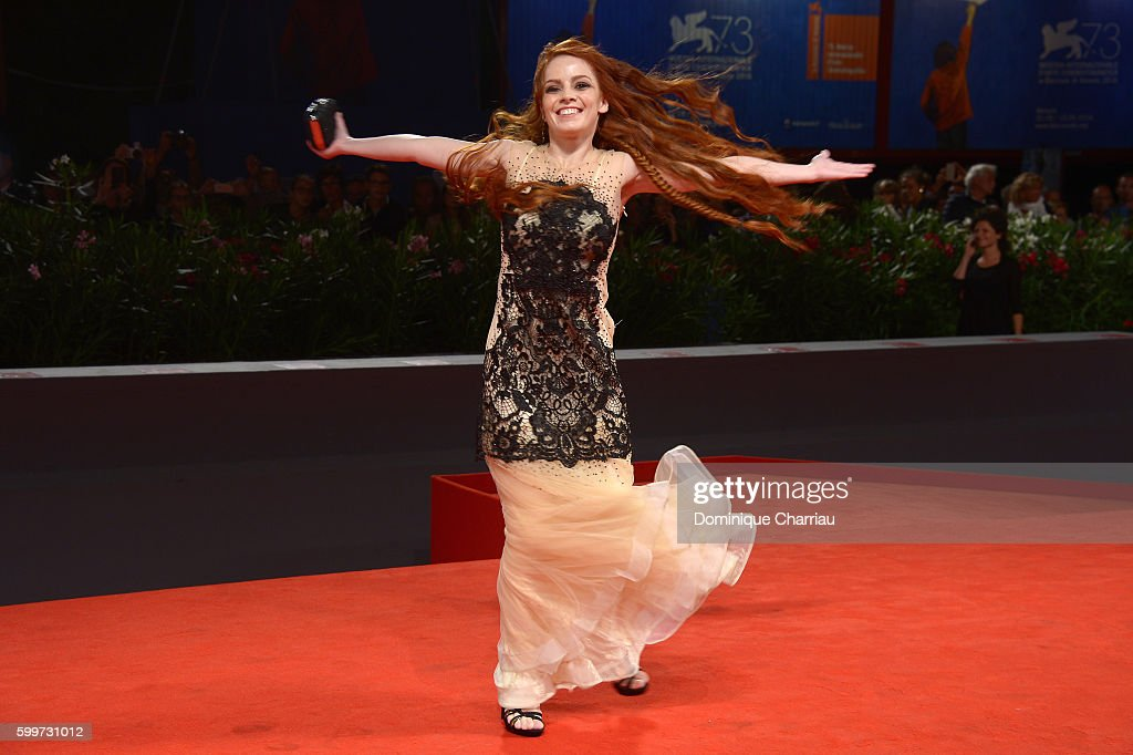 Actress Camilla Diana attends the premiere of 'Tommaso' during the 73rd Venice Film Festival at Sala Grande on September 6, 2016 in Venice, Italy.