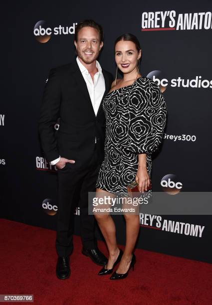 Actress Camilla Luddington and actor Matthew Alan arrive at the 300th Episode Celebration for ABC's 'Grey's Anatomy' at TAO Hollywood on November 4...