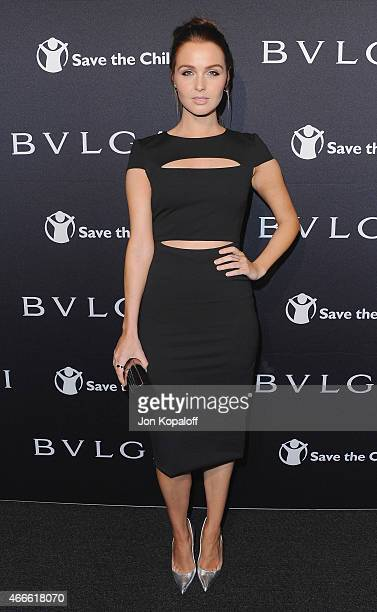 Actress Camilla Luddington arrives at BVLGARI And Save The Children STOP THINK GIVE PreOscar Event at Spago on February 17 2015 in Beverly Hills...