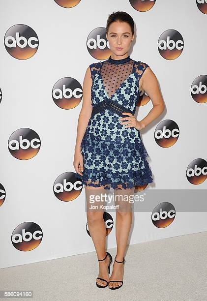 Actress Camilla Luddington arrives at Disney ABC Television Group Hosts TCA Summer Press Tour at the Beverly Hilton Hotel on August 4 2016 in Beverly...