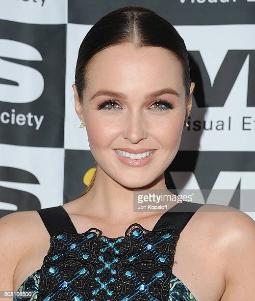 Actress Camilla Luddington arrives at the 14th Annual VES Awards at The Beverly Hilton Hotel on February 2 2016 in Beverly Hills California