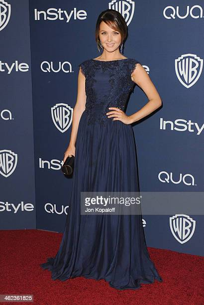 Actress Camilla Luddington arrives at the 2014 InStyle And Warner Bros 71st Annual Golden Globe Awards PostParty on January 12 2014 in Beverly Hills...