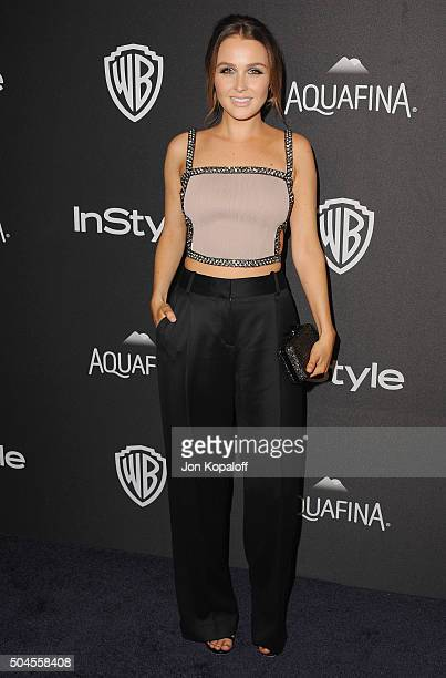 Actress Camilla Luddington arrives at the 2016 InStyle And Warner Bros 73rd Annual Golden Globe Awards PostParty at The Beverly Hilton Hotel on...