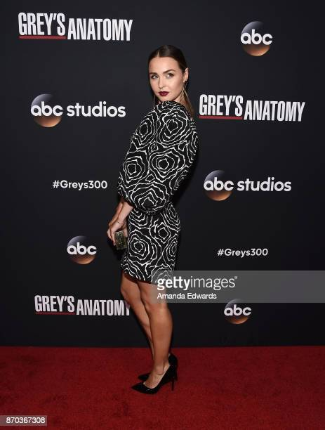 Actress Camilla Luddington arrives at the 300th Episode Celebration for ABC's 'Grey's Anatomy' at TAO Hollywood on November 4 2017 in Los Angeles...