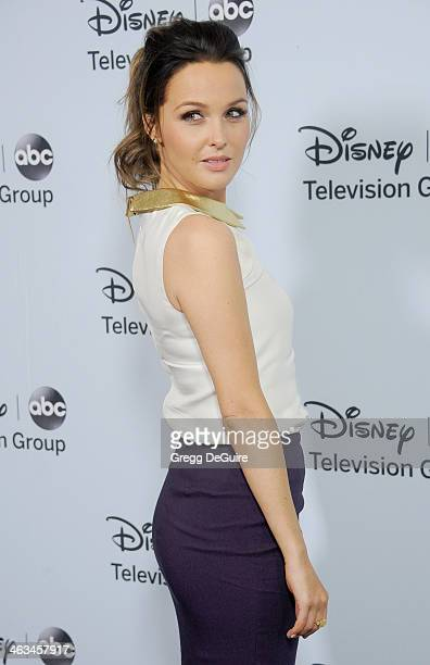 Actress Camilla Luddington arrives at the ABC/Disney TCA Winter Press Tour party at The Langham Huntington Hotel and Spa on January 17 2014 in...