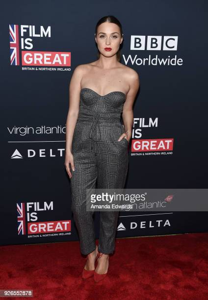 Actress Camilla Luddington arrives at the Film Is GREAT Reception honoring the British Nominees of The 90th Annual Academy Awards at The British...