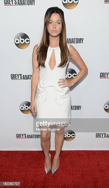 Actress Camilla Luddington arrives at the Grey's Anatomy 200th Episode Celebration at The Colony on September 28 2013 in Los Angeles California