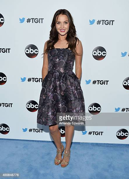 Actress Camilla Luddington arrives at the #TGIT Premiere Event hosted by Twitter at Palihouse Holloway on September 20 2014 in West Hollywood...