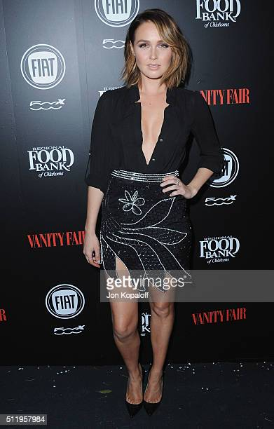 Actress Camilla Luddington arrives at Vanity Fair And FIAT Toast To 'Young Hollywood' at Chateau Marmont on February 23 2016 in Los Angeles California