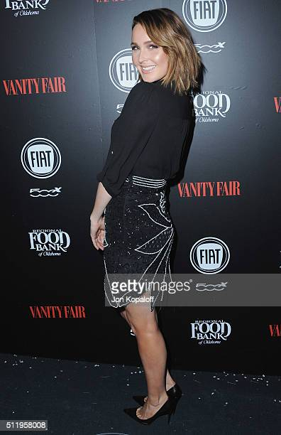 Actress Camilla Luddington arrives at Vanity Fair And FIAT Toast To Young Hollywood at Chateau Marmont on February 23 2016 in Los Angeles California