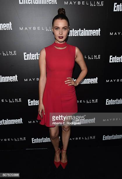 Actress Camilla Luddington attends Entertainment Weekly's celebration honoring THe Screen Actors Guild presented by Maybeline at Chateau Marmont on...