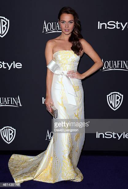 Actress Camilla Luddington attends the 2015 InStyle and Warner Bros 72nd Annual Golden Globe Awards PostParty at The Beverly Hilton Hotel on January...