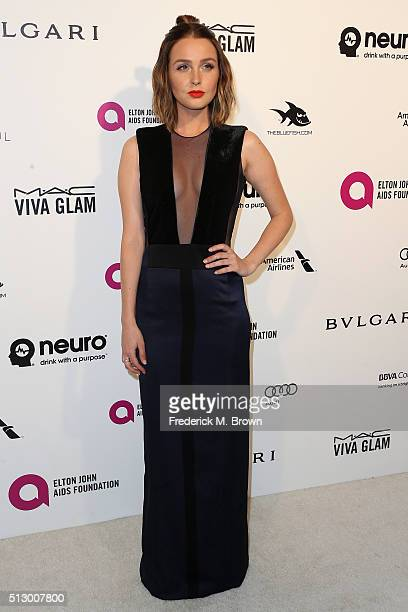 Actress Camilla Luddington attends the 24th Annual Elton John AIDS Foundation's Oscar Viewing Party on February 28 2016 in West Hollywood California