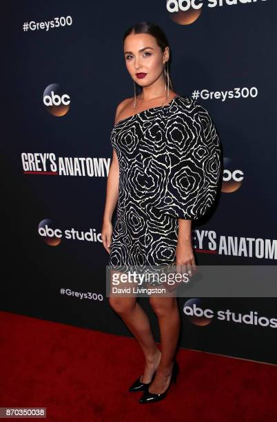 Actress Camilla Luddington attends the 300th episode celebration for ABC's 'Grey's Anatomy' at TAO Hollywood on November 4 2017 in Los Angeles...