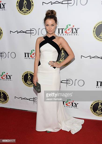 Actress Camilla Luddington attends The Annual MakeUp Artists And Hair Stylists Guild Awards at Paramount Theater on the Paramount Studios lot on...