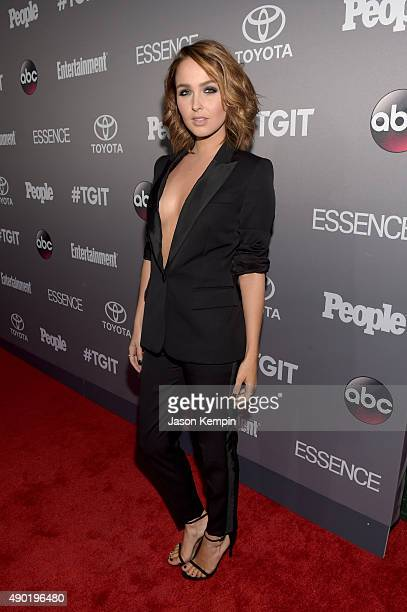 Actress Camilla Luddington attends the Celebration of ABC's TGIT Lineup presented by Toyota and cohosted by ABC and Time Inc's Entertainment Weekly...