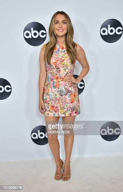 Actress Camilla Luddington attends the Disney ABC Television TCA Summer Press Tour August 7 2018 at the Beverly Hilton Hotel in Beverly Hills...