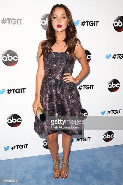 Actress Camilla Luddington attends the TGIT Premiere event at Palihouse on September 20 2014 in West Hollywood California