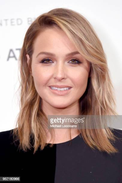 Actress Camilla Luddington attends the Tribeca Games: Shadow of the Tomb Raider panel during the 2018 Tribeca Film Festival at BMCC Tribeca PAC on...