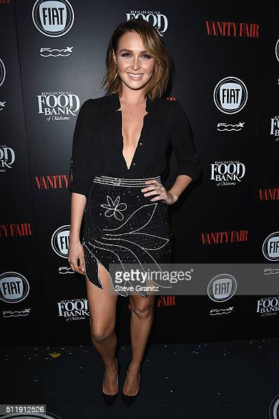 Actress Camilla Luddington attends Vanity Fair and FIAT Young Hollywood Celebration at Chateau Marmont on February 23 2016 in Los Angeles California