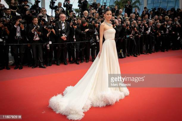 Actress Camilla Morrone attends the screening of Once Upon A Time In Hollywood during the 72nd annual Cannes Film Festival on May 21 2019 in Cannes...