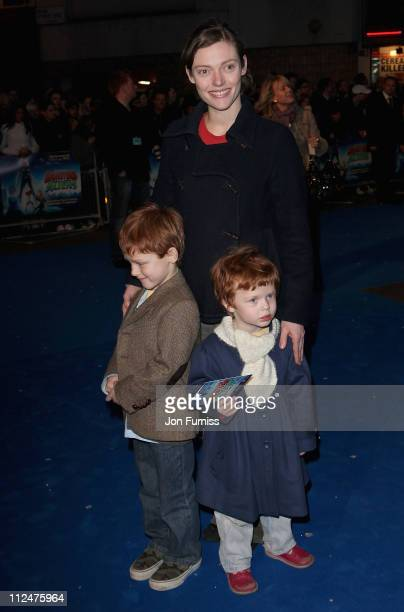 Actress Camilla Rutherford and her family attend the Monsters Vs Aliens film premiere held at the Vue West End cinema on March 11 2009 in London...
