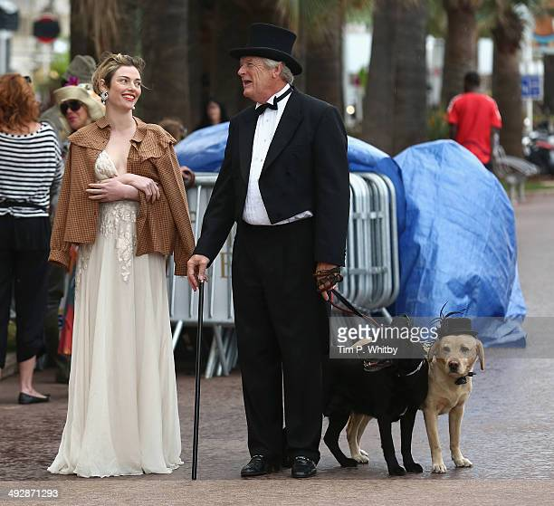 Actress Camilla Rutherford on set of Palm Dog during the 67th Annual Cannes Film Festival on May 22 2014 in Cannes France
