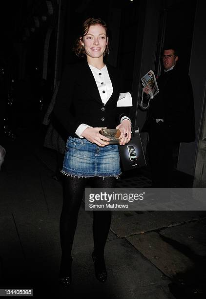 Actress Camilla Rutherford sighting in Mayfair on December 6 2007 in London England