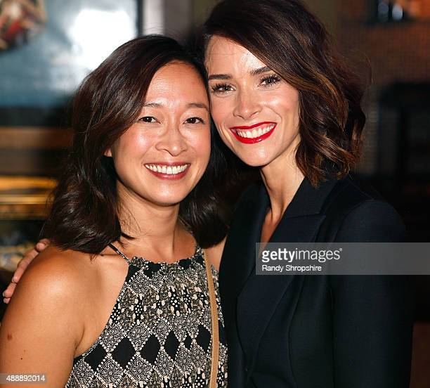 Actress Camille Chen and actress/producer Abigail Spencer attend the private screening of Oscar qualified short film 'Winter Light' at Sundance...