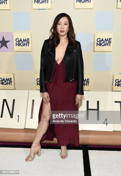 Actress Camille Chen arrives at New Line Cinema and Warner Bros Pictures' Game Night Premiere at the TCL Chinese Theatre on February 21 2018 in...