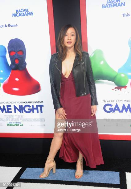 Actress Camille Chen arrives for the Premiere Of New Line Cinema And Warner Bros Pictures' Game Night held at TCL Chinese Theatre on February 21 2018...