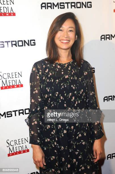 Actress Camille Chen arrives for the premiere of Screen Media Films' Armstrong held at Laemmle's Music Hall Theatre on October 2 2017 in Beverly...