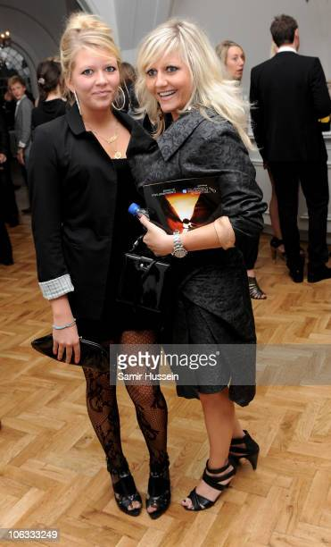 Actress Camille Coduri and daughter Rosa Coduri attends the '127 Hours' After Party during the closing gala of the 54th BFI London Film Festival at...