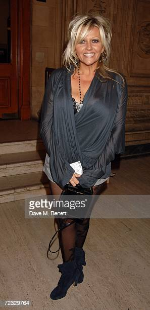 Actress Camille Coduri arrives at the National Television Awards 2006 at the Royal Albert Hall on October 31 2006 in London England