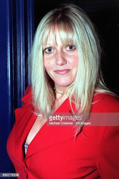 Actress Camille Coduri arriving at the Tricycle Theatre London to watch Paul Corcoran's black comedythriller 'Four Nights In Knaresborough' directed...